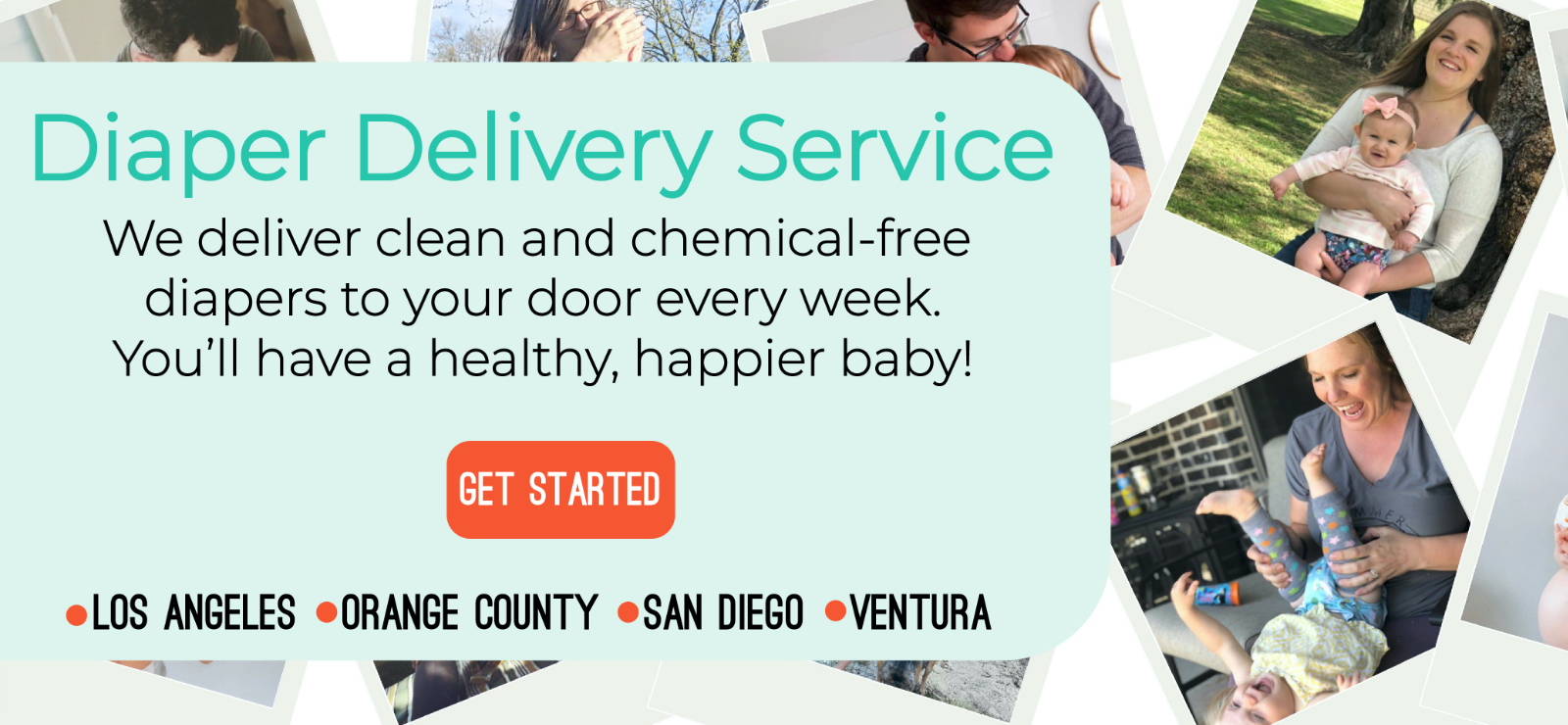 Diaper delivery service banner